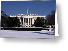 Winter White House  Greeting Card