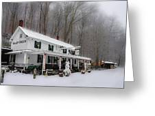Winter Wonderland At The Valley Green Inn Greeting Card