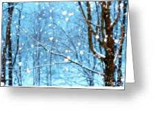 Winter Wonderland Greeting Card by Brenda Schwartz