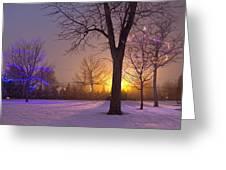 Winter Wonderland - Holiday Square - Casper Wyoming Greeting Card