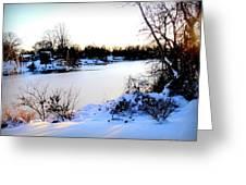 Winter Wonderland  In Maryland Usa Greeting Card