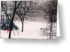 Winter Wonderland In Park Greeting Card