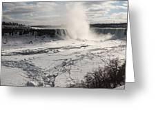 Winter Wonderland - Spectacular Niagara Falls Ice Buildup  Greeting Card