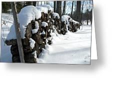 Winter Wood Supply Greeting Card