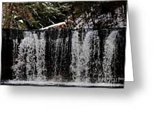 Winter Woodland Waterfall Greeting Card
