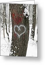 Winter Woods Romance Greeting Card