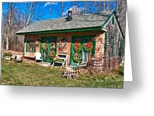 Winterberry Farm Stand Greeting Card by Guy Whiteley