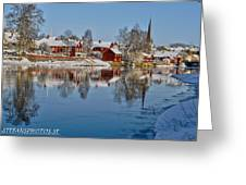 Winterday In Arboga  Greeting Card