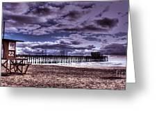 Winters Beach Solitude Greeting Card