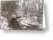Winter's Country Stream Greeting Card
