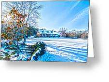 Winters Day Photo Art From The Fence Greeting Card