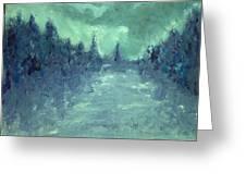Winters Fog Greeting Card