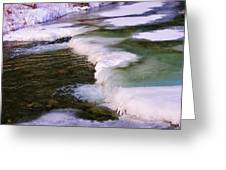 Winters Ice Greeting Card