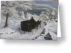 Winters Journey Greeting Card