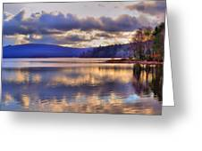 Winters Lake Greeting Card by Dave Woodbridge