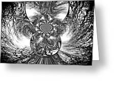 Winter's Vortex Greeting Card