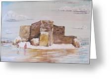 Winter's Wood Ranchos De Taos New Mexico Greeting Card