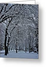 Winter's Work Greeting Card