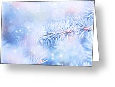 Wintertime Background Greeting Card