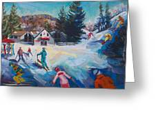 Wintertime Fun Greeting Card