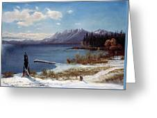 Wintertime Lake Tahoe In Winter The Sierra Nevada California Greeting Card