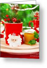 Wintertime Table Setting Greeting Card