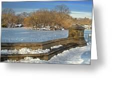 Wintery Afternoon At Bathsheba Terrace Greeting Card