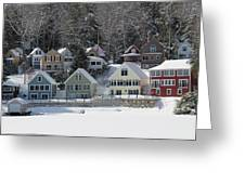 Wintery Alton Bay Nh Greeting Card