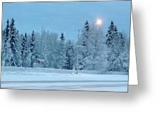 Wintery Blues Greeting Card