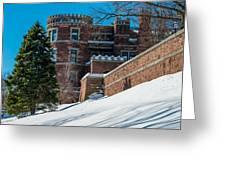 Wintery Lambert Castle Greeting Card