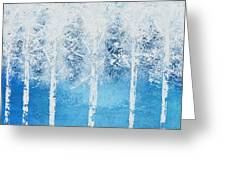 Wintry Mix Greeting Card by Linda Bailey