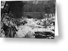 Wintry Waterfall Greeting Card