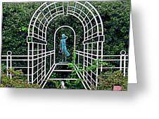 Wire Garden Arch Greeting Card