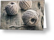 Wire In Great Background Greeting Card