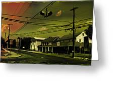 Wires In The Sky Greeting Card