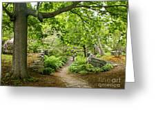 Wiscasset Sunken Garden Greeting Card