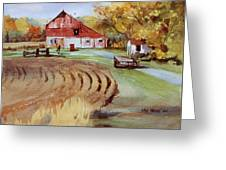 Wisconsin Barn Greeting Card by Kris Parins