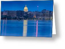 Wisconsin Capitol Reflection Greeting Card