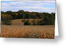 Wisconsin Fields In Late Summer Greeting Card