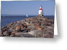 Wisconsin Point Lighthouse 1 K Greeting Card