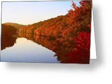 Wisconsin River Sunrise Greeting Card
