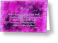 Wisdom Enhanced Violet Greeting Card