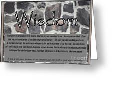 Wisdom In Stone Inspirational Greeting Card