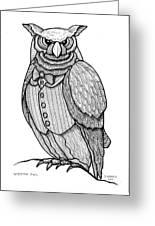 Wisdom Owl Greeting Card
