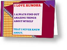 Wisdom Quote Rumors Artistic  Background Designs  And Color Tones N Color Shades Available For Downl Greeting Card