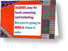 Wisdom Quote School Collage Artistic  Background Designs  And Color Tones N Color Shades Available F Greeting Card