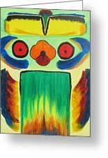 Wise Bird Totem Greeting Card