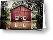 Wise Old Barn Flood Greeting Card