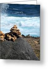 Wishing Rocks Greeting Card by Andrea Dale