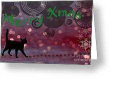 Wishing You All A Purrfect Xmas... Greeting Card